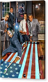 The Game Changers And Table Runners Acrylic Print by Reggie Duffie