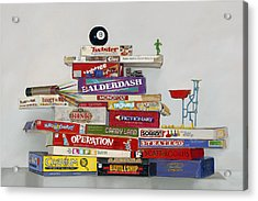 The Games People Play Acrylic Print by Gail Chandler