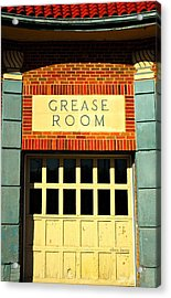 The Garage Acrylic Print by Chris Berry