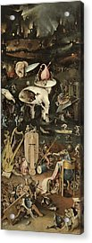 The Garden Of Earthly Delights, C.1500 Oil On Panel Detail Of 3425 Acrylic Print by Hieronymus Bosch
