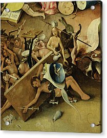 The Garden Of Earthly Delights Hell, Right Wing Of Triptych, C.1500 Oil On Panel Detail Of 322 Acrylic Print by Hieronymus Bosch