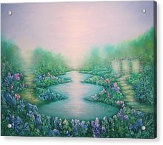 The Garden Of Peace Acrylic Print by Hannibal Mane