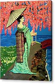 The Geisha Acrylic Print by Victoria Rhodehouse