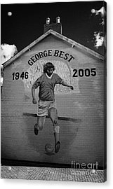 The George Best Memorial Mural On The Lower Cregagh Road In Belfast Northern Ireland Acrylic Print by Joe Fox