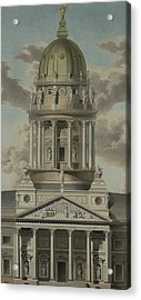 The German Cathedral On The Gendarmenmarkt Acrylic Print by GF Kluge