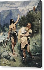The Giants Bore Freia Away, From The Acrylic Print by Ferdinand Leeke