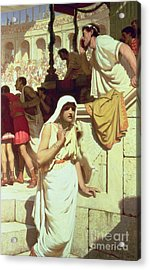 The Gladiators Wife Acrylic Print by Edmund Blair Leighton