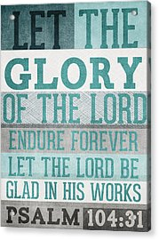 The Glory Of The Lord- Contemporary Christian Art Acrylic Print by Linda Woods
