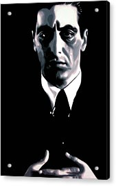 The Godfather Acrylic Print by Luis Ludzska