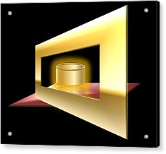The Golden Can Acrylic Print by Cyril Maza