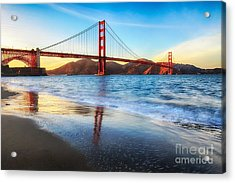The Golden Gate Bridge Acrylic Print by Mel Ashar