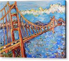 The Golden Gate Acrylic Print by Jason Gluskin