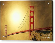 The Golden Gate Acrylic Print by Wingsdomain Art and Photography