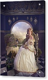 The Golden Room Acrylic Print by Cassiopeia Art