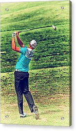 The Golf Swing Acrylic Print by Karol Livote