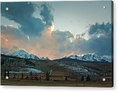 The Gore Range Acrylic Print by Greg Sagan