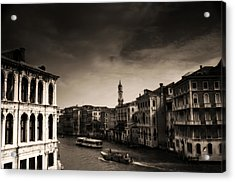The Grand Canal Acrylic Print by Aaron S Bedell