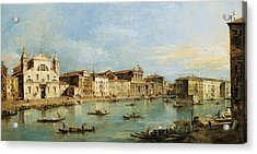 The Grand Canal Acrylic Print by Francesco Guardi