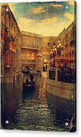 The Grand Canal Shoppes Acrylic Print by Maria Angelica Maira