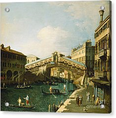The Grand Canal   Venice Acrylic Print by Canaletto