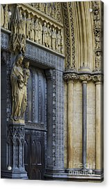 The Great Door Westminster Abbey London Acrylic Print by Tim Gainey