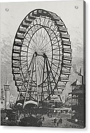 The Great Ferris Wheel In The World Columbian Exposition, 1st July 1893 Acrylic Print by American School