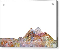 The Great Pyramids Colorsplash Acrylic Print by Aimee Stewart