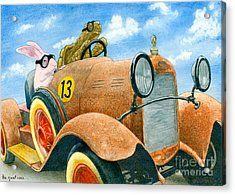 The Great Race... Acrylic Print by Will Bullas