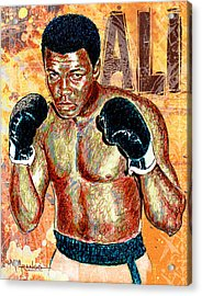 The Greatest Of All Time Acrylic Print by Maria Arango