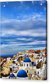 The Greek Isles-oia Acrylic Print by Tom Prendergast