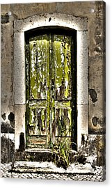 The Green Door Acrylic Print by Marco Oliveira