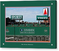 The Green Monster Fenway Park Acrylic Print by Tom Prendergast