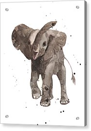The Greeter Elephant Acrylic Print by Alison Fennell