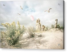 The Greeting Party - Fantasy Art Acrylic Print by Gary Heller