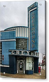 The Greyhound Bus Station Acrylic Print by Julie Dant