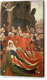 The Guards Cheer, 1898 Acrylic Print by Sir Hubert von Herkomer