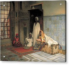 The Guards Of The Harem  Acrylic Print by Ludwig Deutsch