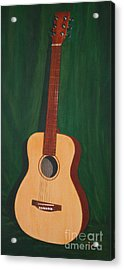 The Guitar  Acrylic Print by Jimmie Bartlett