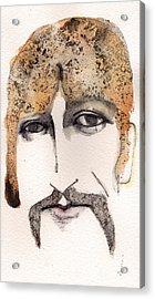The Guru As George Harrison  Acrylic Print by Mark M  Mellon