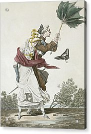 The Gust Of Wind Acrylic Print by Antoine Charles Horace Vernet