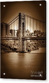 The Gwb Acrylic Print by Arnie Goldstein