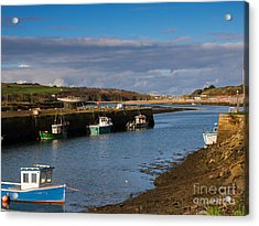 The Harbour At Hayle Cornwall Acrylic Print by Louise Heusinkveld