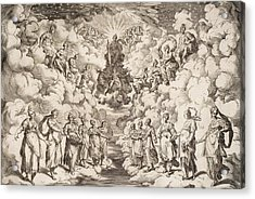 The Harmony Of The Spheres Acrylic Print by Agostino Carracci