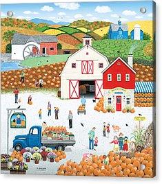 The Harvest Moon Acrylic Print by Wilfrido Limvalencia