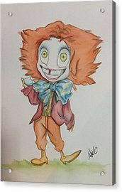 The Hatter Is Mad Acrylic Print by Nico Bress