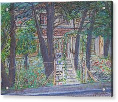 The Haunted House In Talpiot Jerusalem Acrylic Print by Esther Newman-Cohen