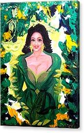 The Hawaiian Queen Acrylic Print by Carmen Doreal
