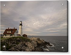 The Head Light Acrylic Print by Karol Livote