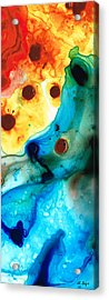The Heart's Desire - Colorful Abstract By Sharon Cummings Acrylic Print by Sharon Cummings
