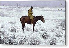 The Herd Boy Acrylic Print by Fredrick Remington